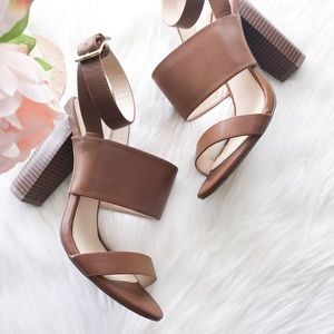 Boston Proper Brown Chunky Sandals